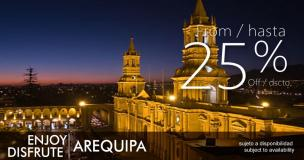 Enjoy Arequipa and save
